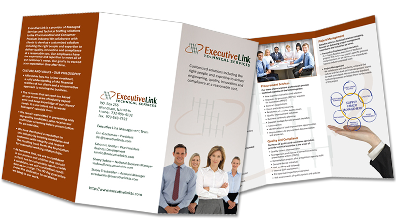 Executive Link Technical Services Trifold Brochure | Answers Design ...